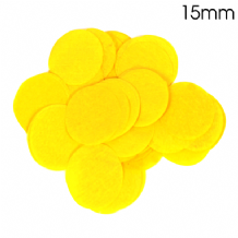 Yellow Tissue Paper Confetti | 15mm Round | 14g Bag